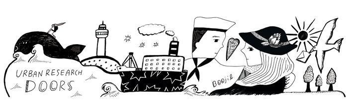"""神奈川県内店舗限定アイテム<br />""""Boojil (ブージル) イラストマグ""""発売"""
