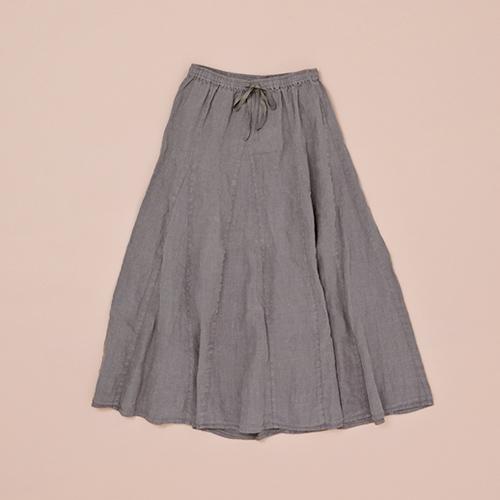 リネンロングフレアースカート 画像