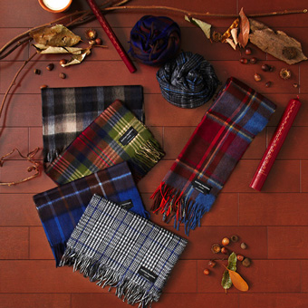 SCOTTISH TRADITION WOVEN SCARF画像