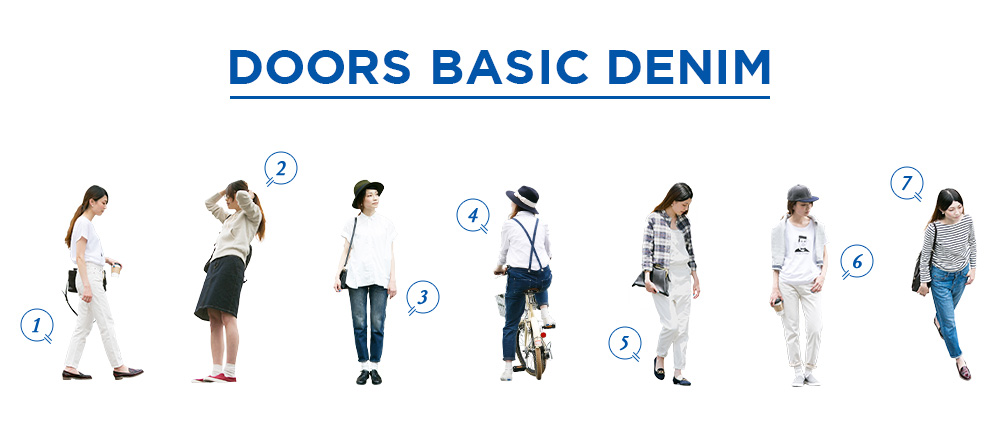 DENIM特集「DOORS BASIC DENIM」