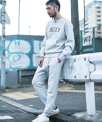 Mt Design 3776 x Champion 別注RW WEBBING BELT SWEAT PANTS