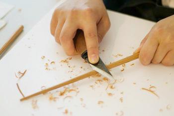 国産イチイの木で自分だけの箸を作ろう