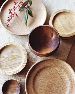 WOOD PLATE WOOD BOWL