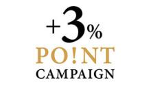 +3% POINT UP キャンペーン