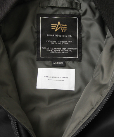 ALPHA INDUSTRIES × DOORS 別注 MA-1 FLIGT NYLON