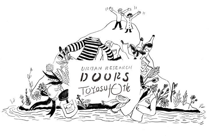 イラストレーターnorahi <br />URBAN RESEARCH DOORS ららぽーと豊洲店10周年記念イラスト公開