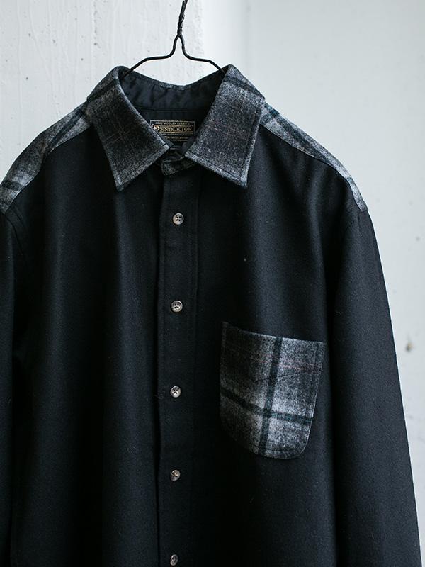 PENDLETON 別注 WOOL クレイジーシャツ BLACK