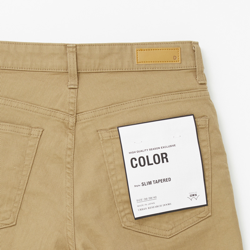 COLOR SLIM TAPERED