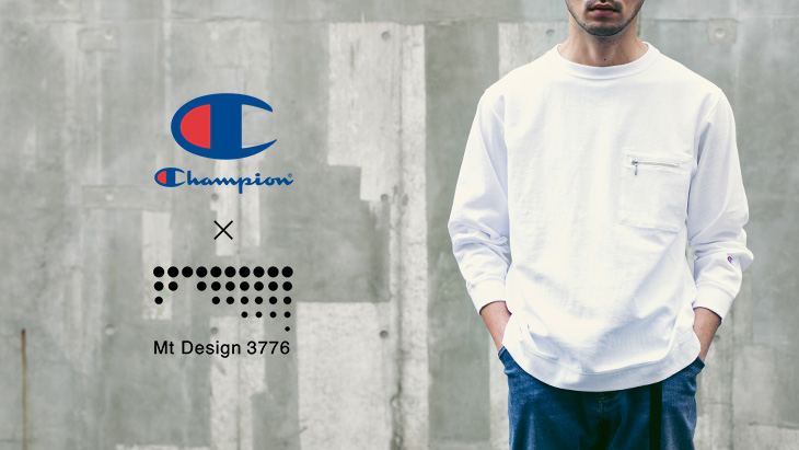 Champion×Mt Design 3776 <br />REVERSE WEAVE LONG SLEEVE T-SHIRTS