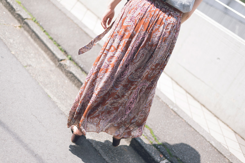 SOIL 別注GATHERED SKIRT