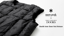 Snow Peak × URBAN RESEARCH DOORSのインナーダウンベストが茶屋町店限定で先行販売を開始