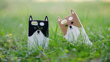 君のiPhoneを守るよ。 オリジナル 犬 iPhoneケース