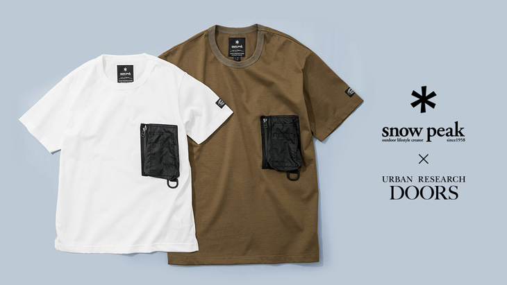 Snow Peak × URBAN RESEARCH DOORS <br />EXCLUSIVE T-shirt 登場!