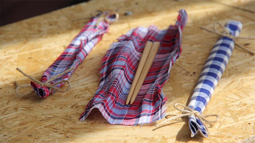 自分の手にあったお箸を作るワークショップ