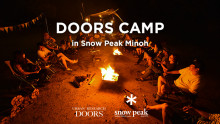 DOORS CAMP in Snow Peak Minoh