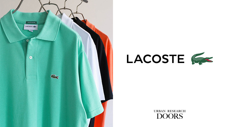 LACOSTE × URBAN RESEARCH DOORS <br />Exclusive model ルーズフィットポロシャツ