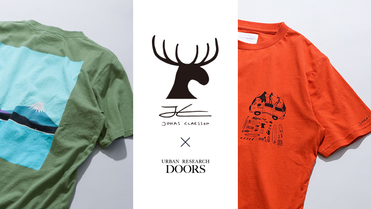 Jonas Claesson × URBAN RESEARCH DOORS<br />コラボTシャツ好評販売中!!