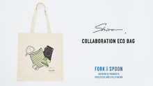 shiro × FORK&SPOON エコバッグ