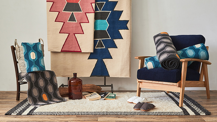 「DOORS LIVING PRODUCTS」より限定企画<br />「新しいキリムとの出会い」DHURRIE -KILIM from India-